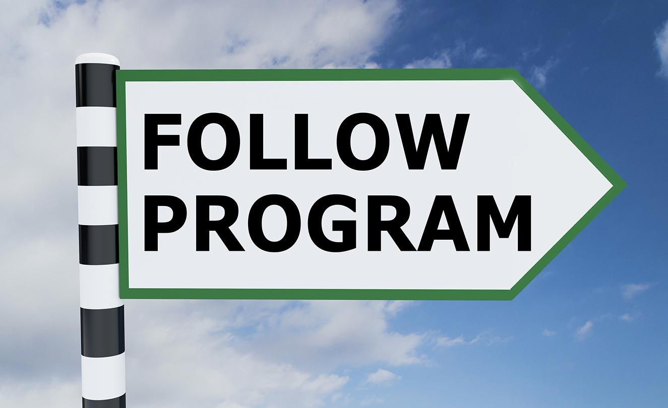 Follow Program Sign