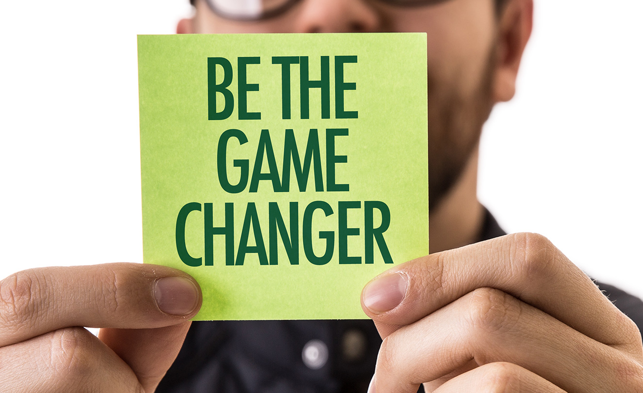 Be The Game Changer post it note